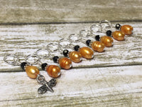 Honey Bee Stitch Marker Set For Knitters- 9 pc. Set , Stitch Markers - Jill's Beaded Knit Bits, Jill's Beaded Knit Bits  - 3