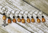 Honey Bee Stitch Marker Set For Knitters- 9 pc. Set , Stitch Markers - Jill's Beaded Knit Bits, Jill's Beaded Knit Bits  - 5