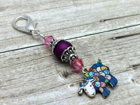 Beaded Yarn Sheep Zipper Pull Jewelry - Key Chain Charm Knitting Progress Keeper- Crochet Stitch Marker- Purse Charm- Mother's Day Gift ,  - Jill's Beaded Knit Bits, Jill's Beaded Knit Bits  - 2