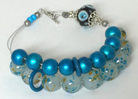 Blue Abacus Row Counting Bracelet- Gift for Knitters ,  - Jill's Beaded Knit Bits, Jill's Beaded Knit Bits  - 2
