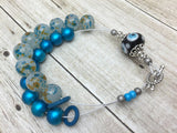 Blue Abacus Row Counting Bracelet- Gift for Knitters ,  - Jill's Beaded Knit Bits, Jill's Beaded Knit Bits  - 3