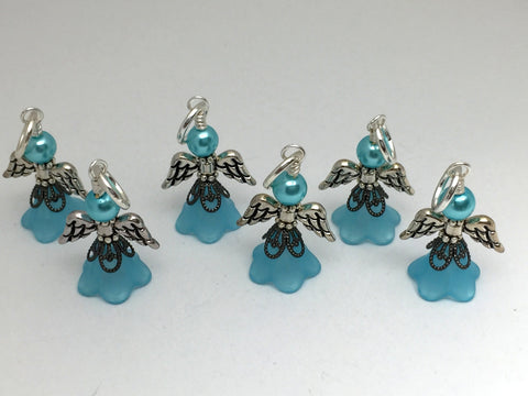 Angel Stitch Marker set- Snag Free Beaded Knitting Stitch Markers- Gift for Knitters- Tools ,  - Jill's Beaded Knit Bits, Jill's Beaded Knit Bits  - 3