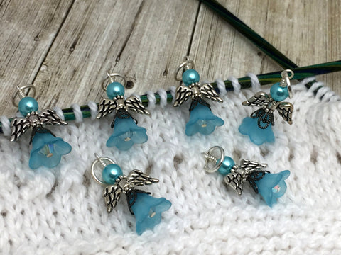Angel Stitch Marker set- Snag Free Beaded Knitting Stitch Markers- Gift for Knitters- Tools ,  - Jill's Beaded Knit Bits, Jill's Beaded Knit Bits  - 5