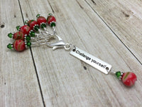 Challenge Yourself Stitch Marker Set- Inspirational Gift for Knitters ,  - Jill's Beaded Knit Bits, Jill's Beaded Knit Bits  - 2