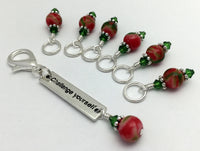 Challenge Yourself Stitch Marker Set- Inspirational Gift for Knitters ,  - Jill's Beaded Knit Bits, Jill's Beaded Knit Bits  - 4