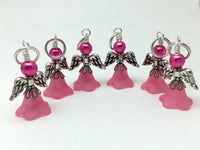 Angel Stitch Marker set- Snag Free Beaded Knitting Stitch Markers- Gift for Knitters- Tools ,  - Jill's Beaded Knit Bits, Jill's Beaded Knit Bits  - 4