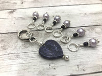 Primitive Heart Stitch Marker Set for Knitting, Gift for Knitter