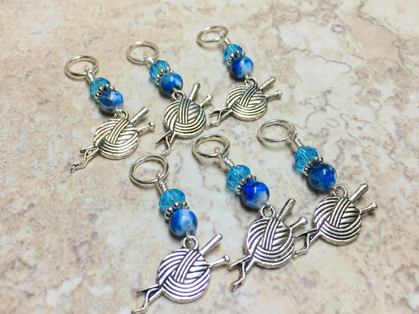 Ball of Yarn Stitch Marker Charms, SNAG FREE Knitting Markers, Gifts for Knitters
