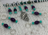 Seashell Stitch Marker Set for Knitting, Progress Keepers, Gifts for Knitter