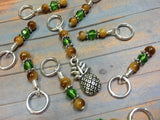 Pineapple Stitch Marker Set | Snag Free Gift for Knitters | Food Knitting Charm | Available Holder Option