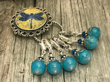 Magnetic Dragonfly Stitch Marker Holder with Removable Progress Markers