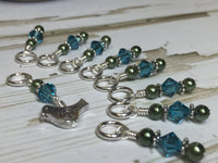 Silver Bird Stitch Marker Set | Gifts for Knitters | Snag Free Knitting Markers
