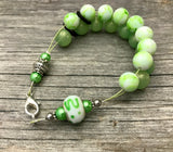 Light Green Abacus Counting Bracelet | Row Counter for Knitting | Gift for Knitters |