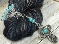 Victorian Cross Stitch Marker Set for Knitting | Gifts for Knitters |