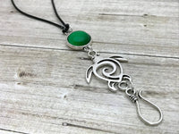 Sea Turtle Portuguese Knitting Necklace |  Adjustable Leather Cord Necklace
