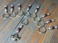 Teapot Stitch Marker Set with Snag Free Rings | Gift for Knitters | Size US3 to US17 |