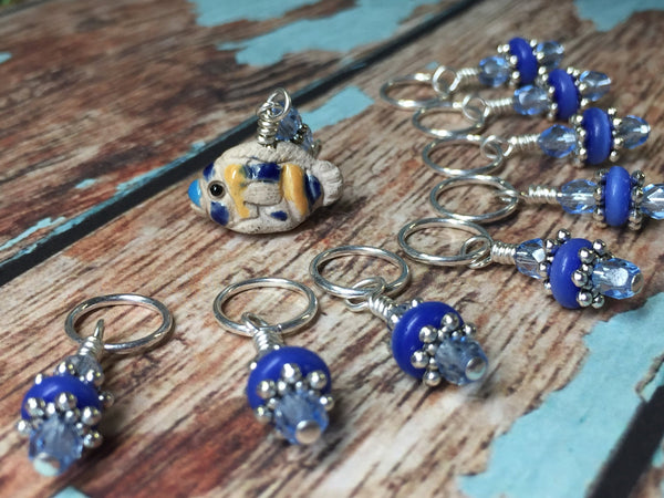 Tropical Fish Snag Free Stitch Marker Charm Set | Gift For Knitters | FREE US SHIPPING