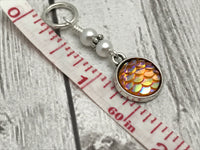 Mermaid Tail Stitch Markers for Knitting or Crochet, Gifts for Knitters, Snag Free