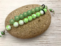 Light Green Abacus Counting Bracelet | Row Counter