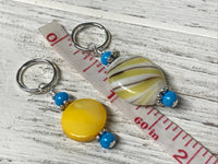Golden Yellow Stitch Marker Set for Knitting and Crochet