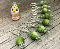 Owl Stitch Marker Set | Snagless | Bird Knitting Marker | Gifts for Knitters | US3-US17 |