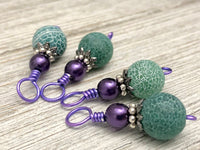 Frosted Agate Snag Free Stitch Marker Charms, Gifts for Knitters