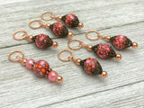 Rose Copper Stitch Marker Set, Gifts for Knitters