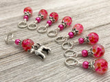 Chihuahua Stitch Marker Charm Set | Dog Gifts for Knitters