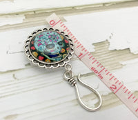 Magnetic Sugar Skull Portuguese Knitting Pin | Name Tag Holder | Gift for Knitters