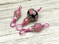 Floral Snag Free Stitch Marker Set for Knitting