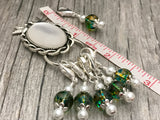 Green Removable Progress Markers, Magnetic Stitch Marker Holder, Kissing Birds, Crochet Stitch Markers, Yarn Markers, Pattern Markers
