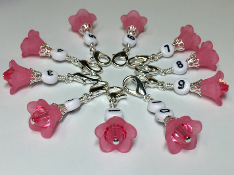 Number Stitch Markers, Knitters Gift, Progress Keeper, Optional Stitch Marker Holder Available