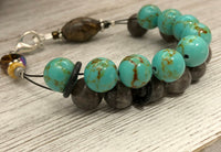 Turquoise Magnesite Abacus Counting Bracelet