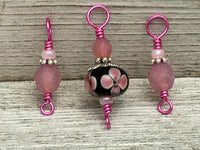 Floral Snag Free Stitch Marker Set for Knitting | Gifts for Knitters | Optional Matching Holder Available