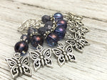 Butterfly Stitch Marker Set For Knitting | Snag Free Rings in Several Sizes | Knitting Gift