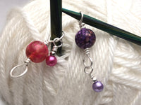 Increase Row Stitch Markers, Progress Keeper
