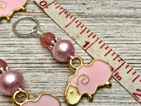Pink Sheep Stitch Marker Charms, SNAG FREE