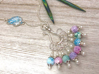 Seashell Stitch Marker Necklace, Gifts for Knitters