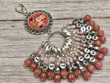 Valentine Owl Number Stitch Markers with Your Choice of Holder | Gift for Knitters | Counting Markers |