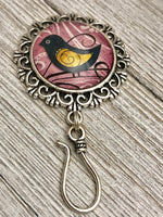 Magnetic Whimsical Bird Portuguese Knitting Pin | ID Holder | Gift for Knitters