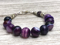Purple Agate Abacus Counting Bracelet | Row Counter