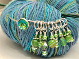 Green Mermaid Stitch Marker Bracelet | Gifts for Knitters