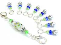 Snag Free Stitch Markers for Knitting with Project Bag Clip Holder