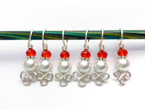 Pearl Stitch Markers for Knitting, Gift for Knitters, Celtic Knot