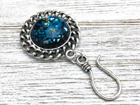 Blue Mosaic Magnetic Portuguese Knitting Pin