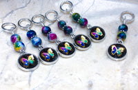 Butterfly Stitch Markers For Knitting | Snag Free Ring Sizes for Needles US3 to US15 | Knitting Gift
