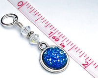 Glitter Stitch Markers For Knitting | Snag Free Ring Sizes for Needles US3 to US17 | Knitting Gift