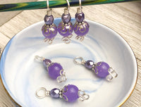 Periwinkle Stitch Markers for Knitting, Gift for Knitters