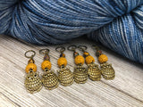 Bronze Owl Stitch Markers for Knitting or Crochet, Snag Free