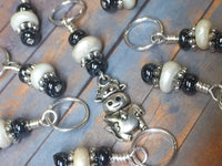 Cow Stitch Marker Set for Knitting | SNAG FREE Progress Keepers | Gift for Knitters | Needles US7- US17
